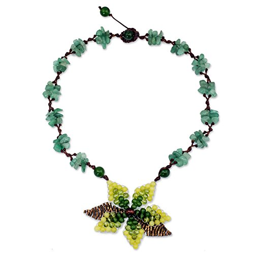 NOVICA Multi-Gem Serpentine Beaded Necklace, 16.25 'Seasonal Bloom'