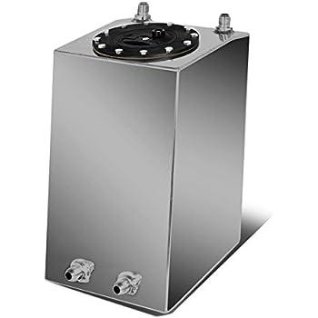 4-Gallon//15 Liter Aluminum Racing Bottom Feed Fuel Cell Gas Tank w//Cap Black