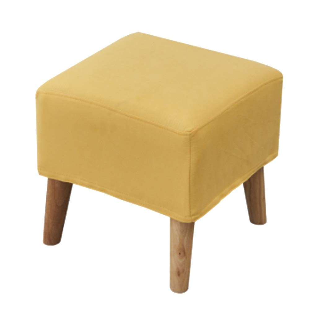 D 90x40x40cm CAOYUSmall stool Change shoes stool fabric removable and washable small sofa stool solid wood foot bed end stool (color   D, Size   90x40x40cm)