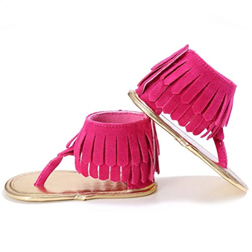 Estivo Morbida Sandalo Ragazze Rosa Ragazzi Frange Scarpine Scarpe Scarpe Scarpe   6d04a1