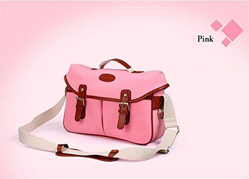 Z&HXsacchetto di spalla casuale impermeabile moda multifunzionale Fotografia borse fotocamera reflex , pink , m
