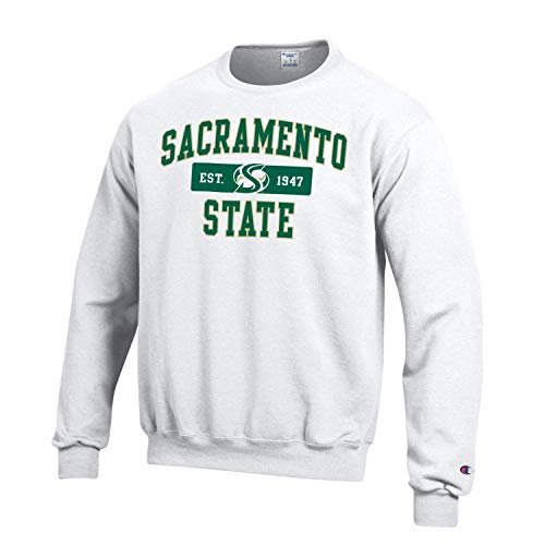 Shop College Wear Sacramento State Hornets Crewneck Sweatshirt-White