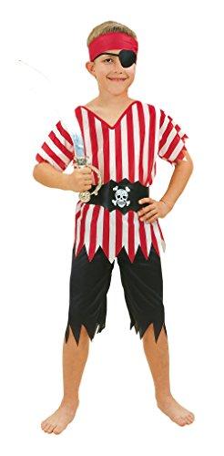 Bristol Novelty Pirate Boy Budget Costume (L) Age 7 - 9 Years