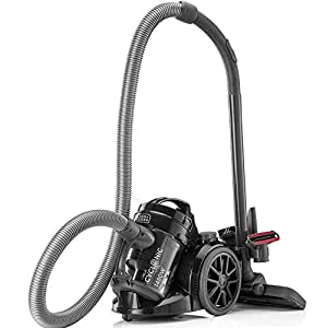 Black & Decker 1480W Bagless MultiCyclonic Canister Vacuum Cleaner, Black - VM1480-B5