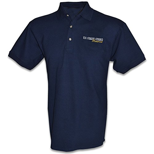 Honor Country US Coast Guard Retired Polo Gold Shirt - Navy Blue