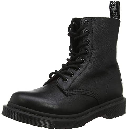 Dr. Martens 1460 Pascal Virginia Womens Mono Black Boots UK