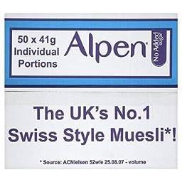 Alpen No Added Sugar 50 X 41G Individual Portions