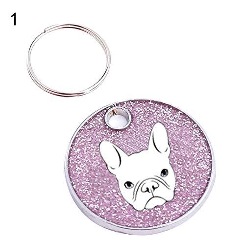 Labrador Bulldog Dog ID Name Tag Address Pet Loss Key Ring Collar Pendant