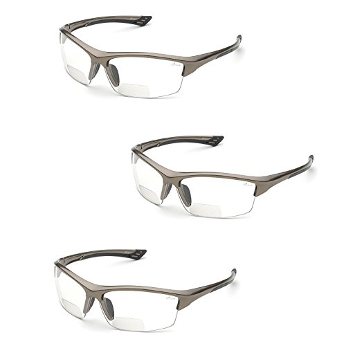 Elvex RX-350 Diopter Safety Glasses (3 Pair) (2.0 Clear Lens)