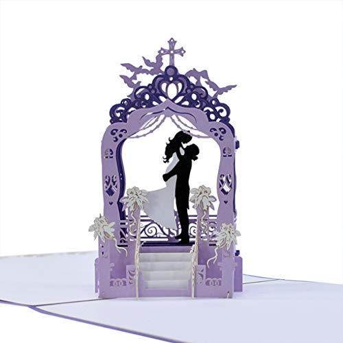 CUTPOPUP's Bride & Groom 3D Popup Greeting Card-Paper Art & Handicrafts-Full of Love And Happiness, Perfect Gifts for Wedding, Anniversaries, Valentine's Day, Birthday, or Any Occasion