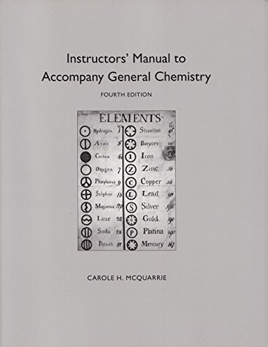 Instructor's Manual to Accompany General Chemistry, 3rd Edition
