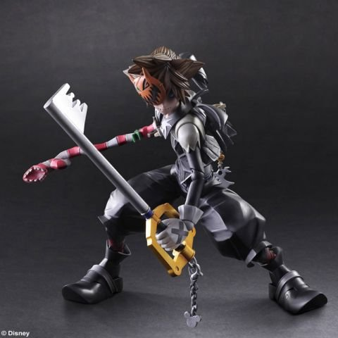 Figure Action Play Arts 2 (Square Enix Kingdom Hearts II Halloween Town Sora Play Arts Kai Action Figure)