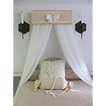 CrOwN Pelmet Upholstered Awning Gold Ivory Cornice Teester Girls Baby Bedroom Room decor Princess Bed Canopy Handmade So Zoey Boutique SALE