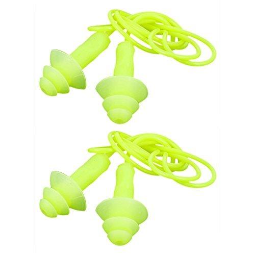 Dealmux protection auditive Sports d'eau en silicone Bouchons d'oreille 2pcs Jaune