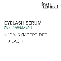 InstaNatural Eyelash & Eyebrow Boost Serum - Rapid & Fast Lash Care for Long, Thick & Fuller Eyelashes & to Enhance Brows - With Peptides, Organic Vitamins & Premium Xlash Liquid Formula - 10 ML
