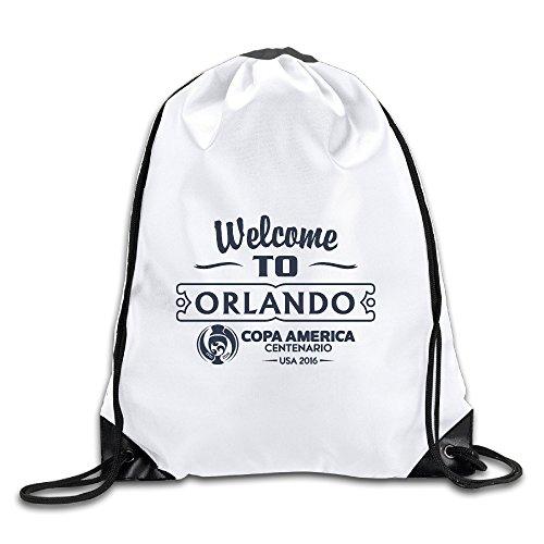 MYDT1 Welcome To Orlando Drawstring Backpacks Sack - Orlando Oakley