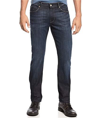 (7 For All Mankind Men's Slimmy Slim Straight-Leg Jean, Los Angeles Dark,)