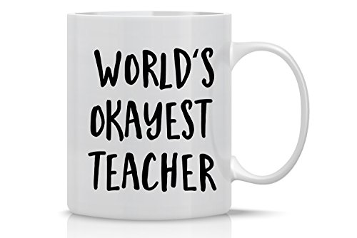 Worlds Okayest Teacher Mug Birthday product image
