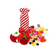 do.Cross Merry Christmas Decorations Socks Portable Elves Candy Gift Bags for Xmas Dinner Party Atmosphere