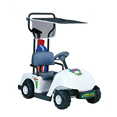 Kid Motorz Junior 6V Pro Golf Cart Ride-On, White from National Products Ltd. Kid Motorz (Drop Ship Ordering Code)
