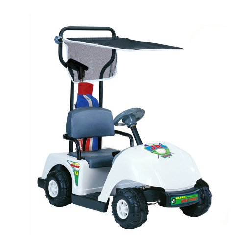 (Kid Motorz Junior 6V Pro Golf Cart Ride-On, White )