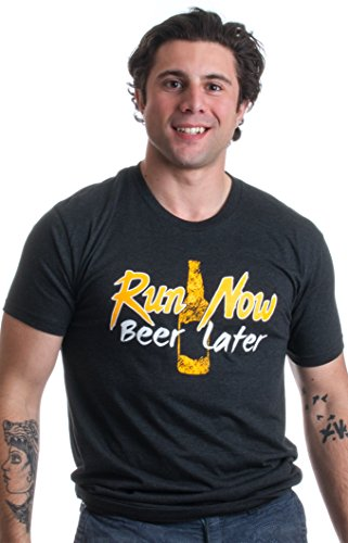 Run Now, Beer Later | Funny Marathon Runner, Running Unisex Triblend T-shirt