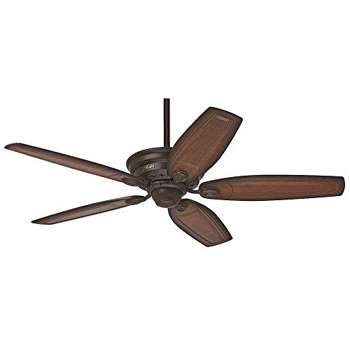 Hunter 54070 Bingham 52 Cocoa Ceiling Fan with Five Carved Wood Burnished Alder Blades