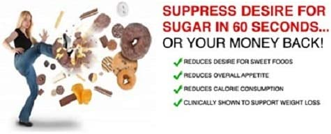 SUGAR SUPPRESS 60 - Stops Sweet Craving and Blocks Sugar in 60 Seconds Guaranteed - Controls Appetite - 60 Tablets