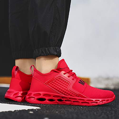 GSLMOLN Men Fashion Trainers Lightweight Running Sports Shoes Outdoor Casual Non Slip Walking Gym Fitness Shoes