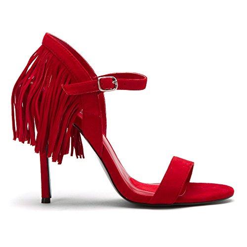 Charles Jourdan Kvinners Boa Sandaler Røde ...