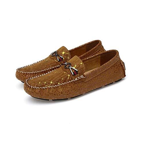 Casual Pigre Flat Novità Antiscivolo C Uomo Scarpe Dimensione w Da Hy C Camoscio Loafers Slip In On Donna Beanie 44 Per colore qC4zw