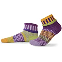 Solmate Socks Mismatched Ankle Socks Womens/Mens, USA Made with Recycled Yarns