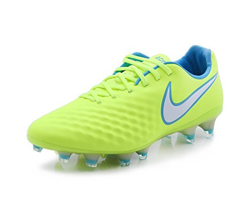 Nike Women's Magista Opus II FG Soccer Cleat - (Volt/White/Barely Volt/Chlorine Blue) (7.5)