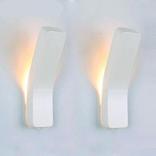 FAYM - Il design creativo del moderno minimalista soggiorno camera da letto posto letto illuminazione corridoio lampada da parete , nero