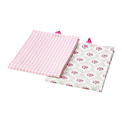 IKEA MAJLIS – Toalla de té, flor, comprobar patrón/2 pack/2