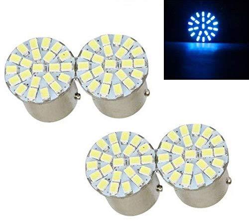 Ramanta 22 SMD LED Bike Indicator Light Bulb Lamp Universal for Bikes and Cars (Blue)