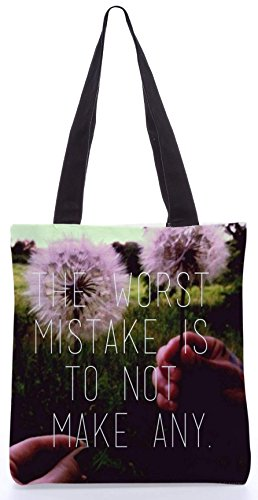 Snoogg Peggiore Errore 13,5 X 15 Pollici Shopping Bag Shopping In Tela Di Poliestere