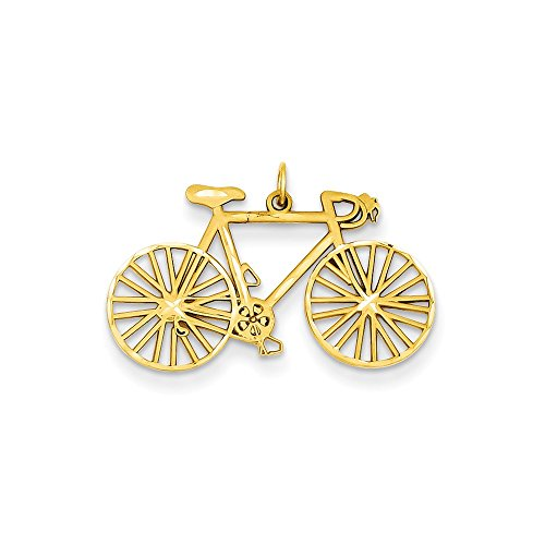Pendants Travel and Transportation Charms 14K Yellow Gold Bicycle Charm Pendant