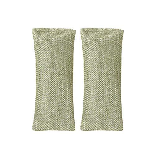 2019 WaiiMak 2 Pieces Bamboo Smelly Deodorant Shoe Deodorize Desiccant Moisture Absorber (Green)