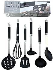 SurgeHai Kitchen Utensil Set - 6 Pieces Nylon Kitchen Cooking Utensil Set, Nonstick Kitchen Utensils Cookware Set with Free BPA, Dishwasher Safe for Nonstick Pans