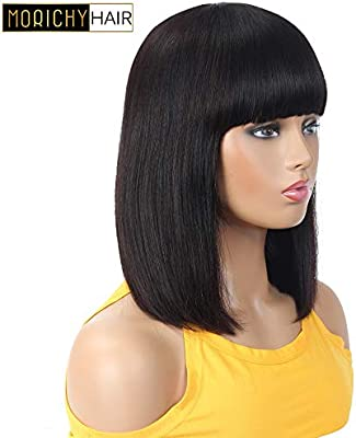 Short Bob Pelucas de cabello humano para mujeres negras Cabello ...