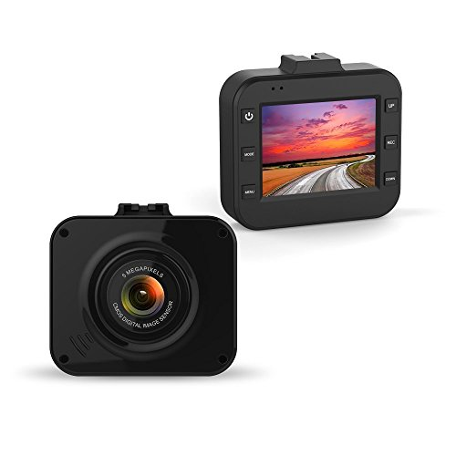 BLUEPUPILE Dash Cam , 2.0″ LCD Driving Recorder , 120° Wide Angle Dash Camera Video with G-Sensor, Loop Recording,Super Night Vision