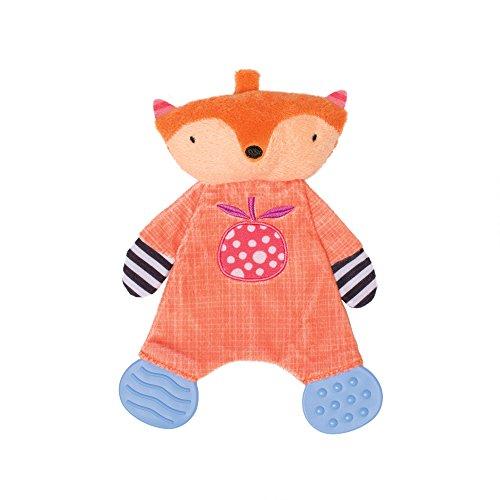 Manhattan Toy Teether Fox Soft Snuggle Blankie Toy