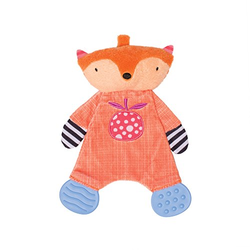 Manhattan Toy Teether Fox Soft Snuggle Blankie Toy