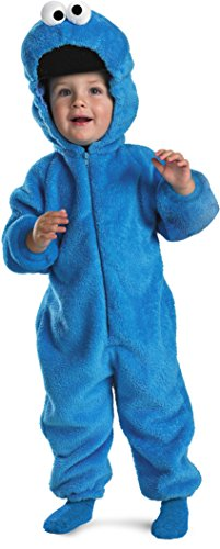 Cookie Monster Deluxe Two-Sided Plush Jumpsuit Costume - Small (2T)