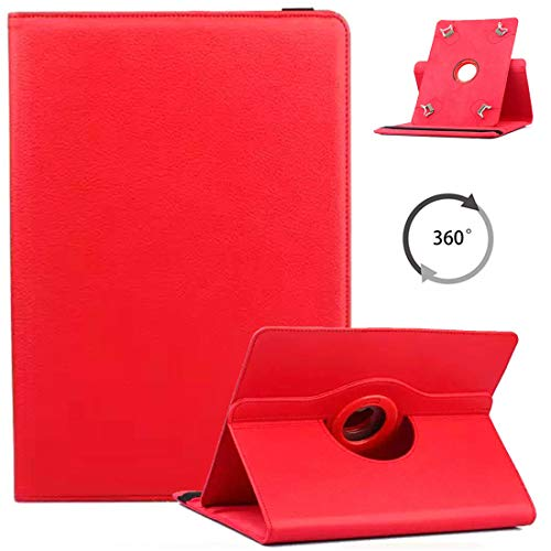 Universal 9-10 inch Tablet Case, ANGELLA-M 360 Degree Rotating Stand Case Cover LLLtrade 10.1, BENEVE 10.1, YELLYOUTH 10, Wecool 10.1, NeuTab N11 Plus - Red