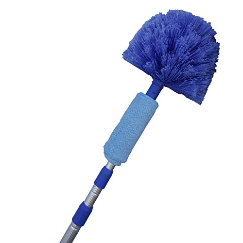 Price comparison product image Extension Rod & Cobweb Duster, Extend 18-20 feet, Cleaning High Ceilings, Cathedral Ceilings, Ceiling Fans, Book Shelve, Curtain Rods, Pest Control Duster