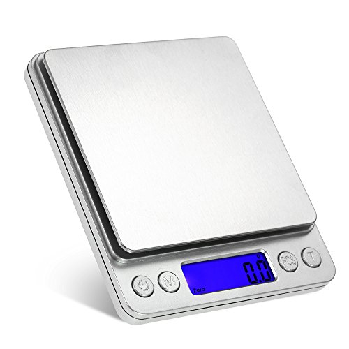 eWINNER 2000g/0.1g Accurate Kitchen Scale High-precision Jewelry Scale Mini Food Scale Electric Kitchen Scale with Two…