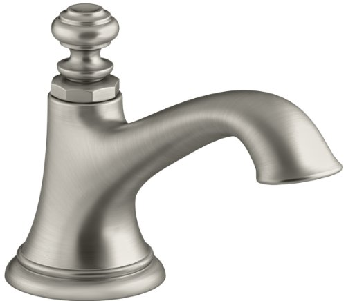 KOHLER K-72759-BN Artifacts Bathroom sink spout with Bell design, Less Handles, Vibrant Brushed Nickel