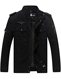 WenVen Men's Fashion Cotton Jackets